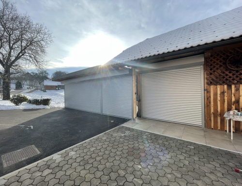 Bela rolo garažna vrata